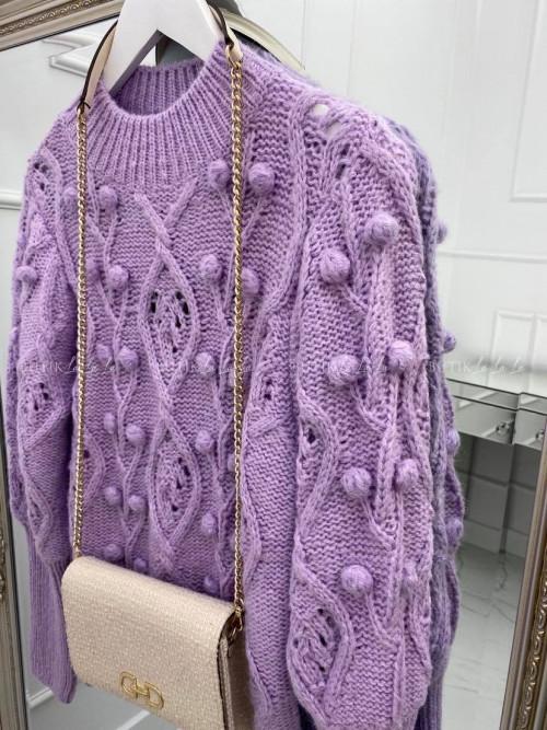 sweterek liliowy Golden