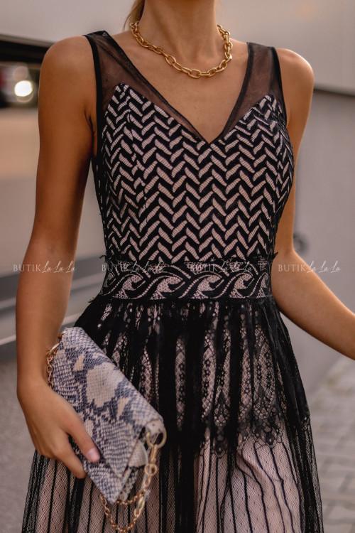 Sukienka tiulowa czarna Sisi
