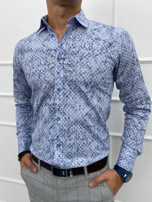 koszula męska slim imaginazzi błękitna