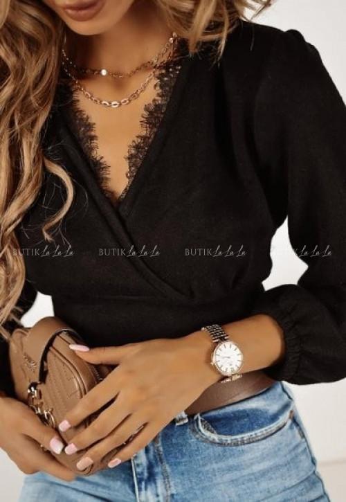 sweter czarny Wenezia