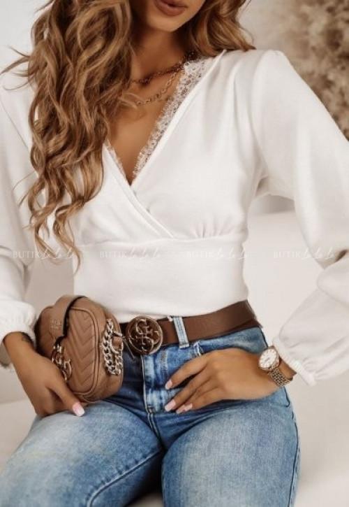 sweter biały Wenezia