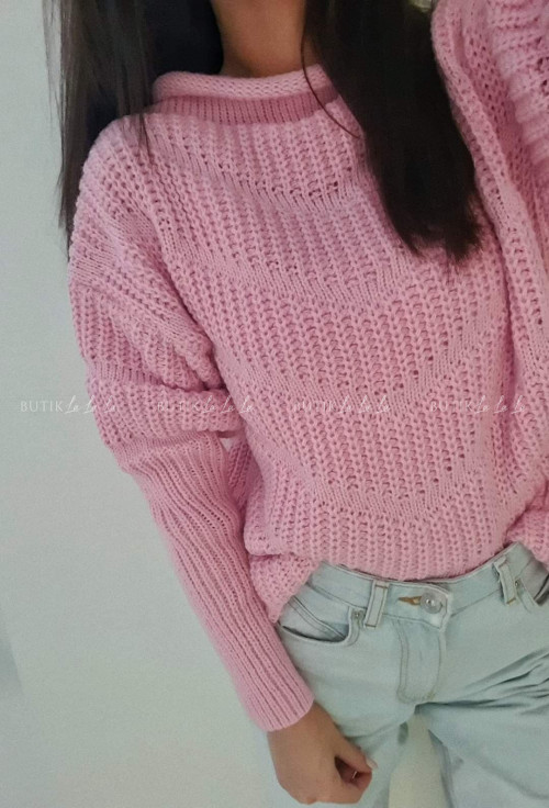 sweter różowy Nina