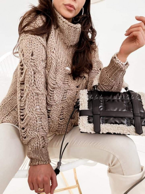 sweter wełniany beżowy Merino