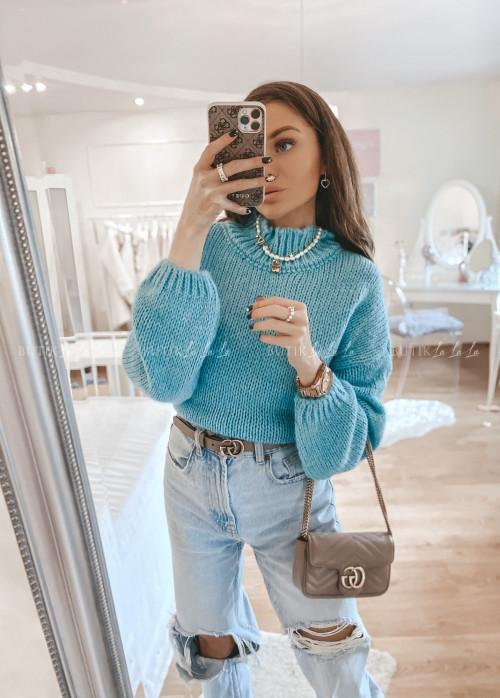 sweterek turkusowy Mili