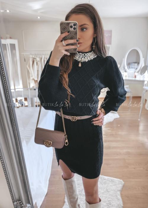 spódniczka sweterkowa czarna Bueno