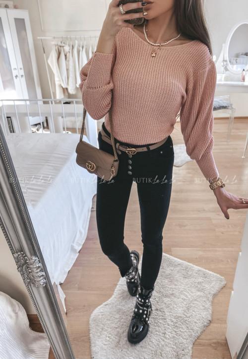 spodnie czarne z guzikami Rosti