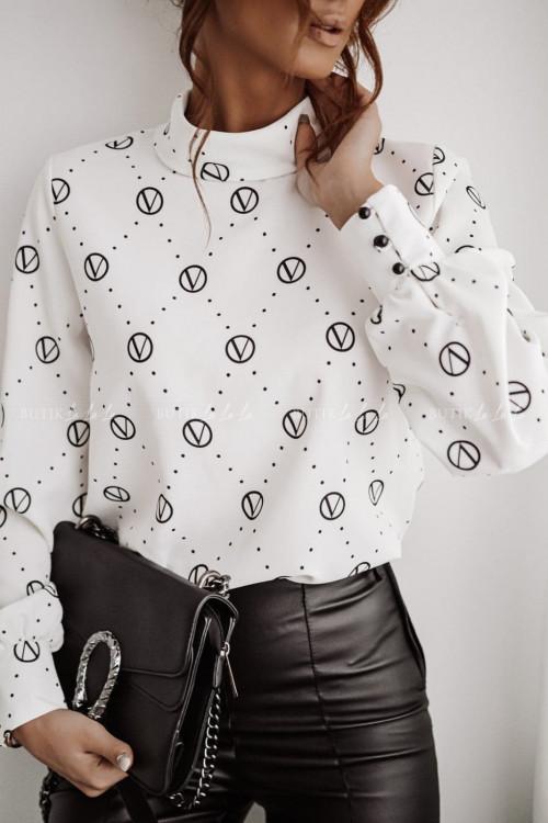 koszula biało czarna louise