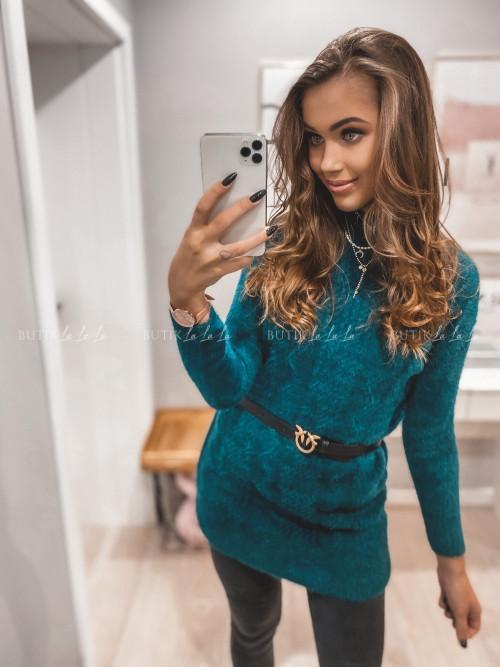 sweterek przedłużany zielony Stella