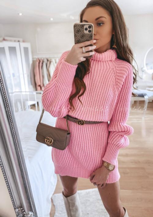 Sweterek przedłużany różowy Mogli