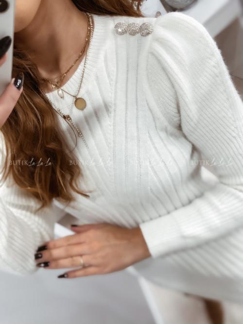 sukienka sweterkowa biała Dany