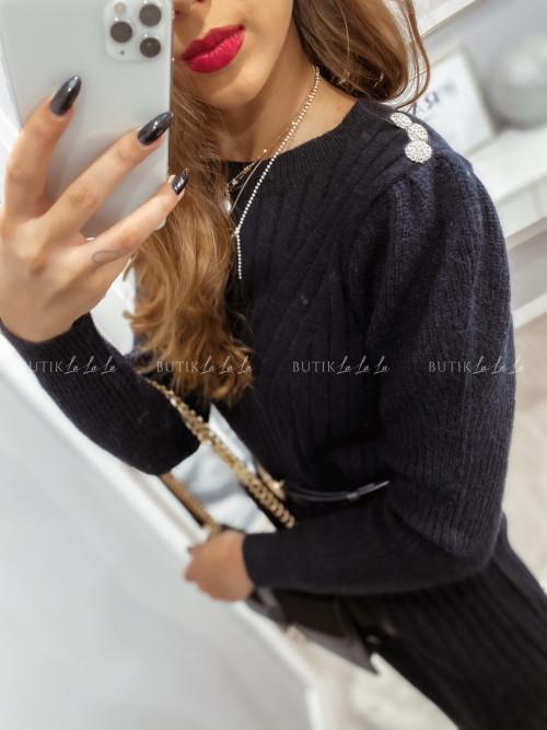 sukienka sweterkowa czarna Dany