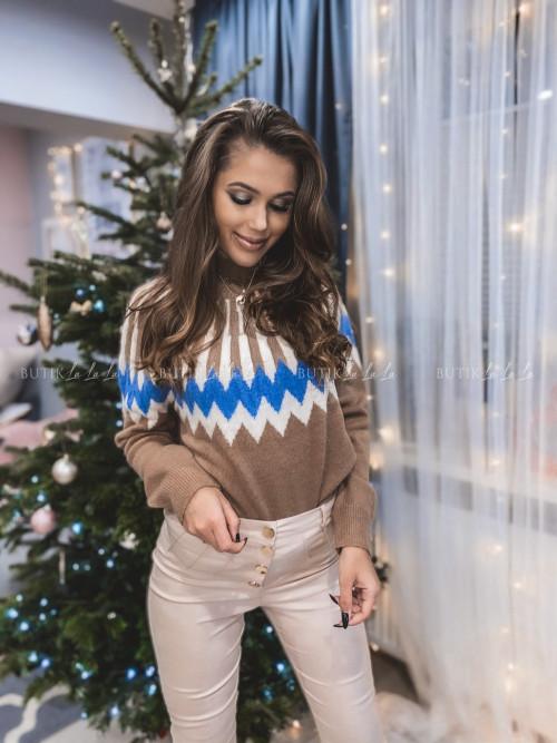 Sweter brązowy Winter