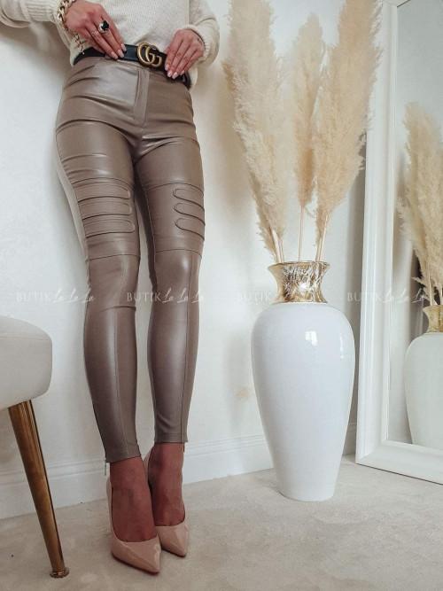 spodnie woskowane mocca Tress