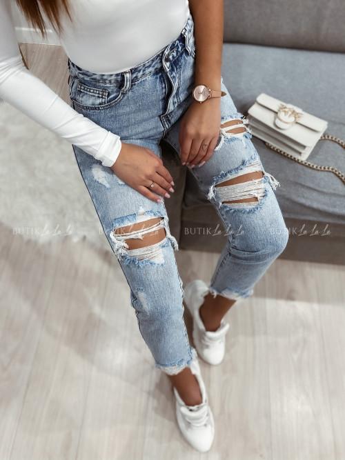 Spodnie boyfriend jeans blue