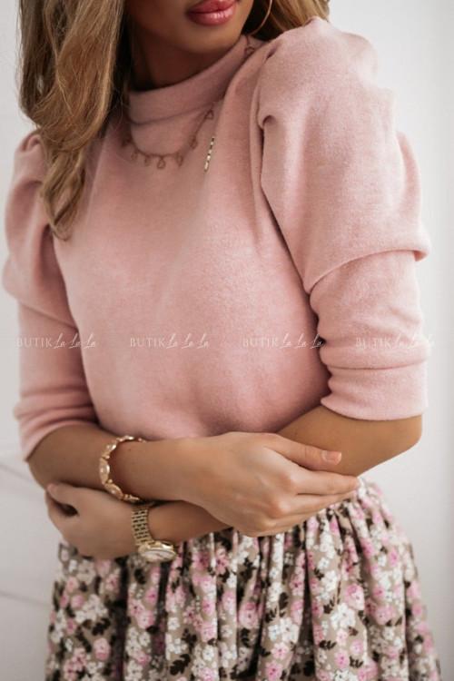 bluzka sweterkowa pudrowa Sila