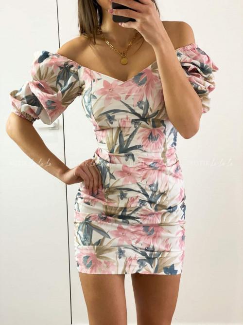Sukienka w kwiatowy print Leost