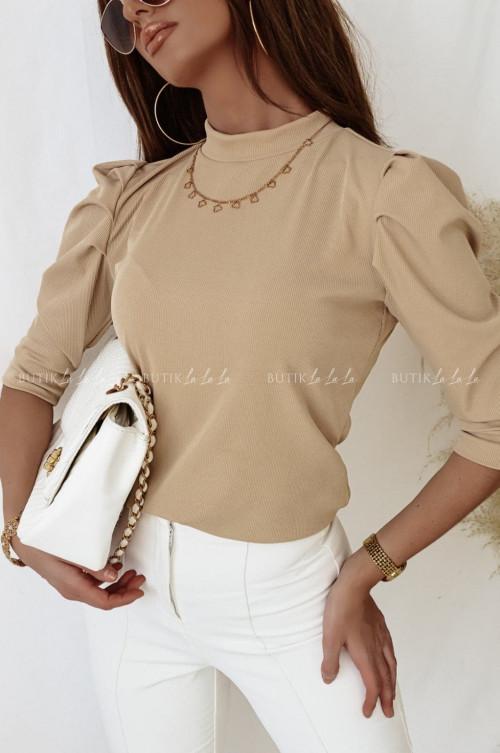 bluzka sweterkowa beżowa Sila
