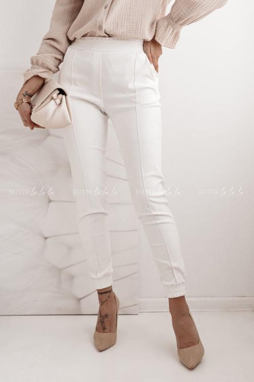 spodnie kremowe woskowane Paollo