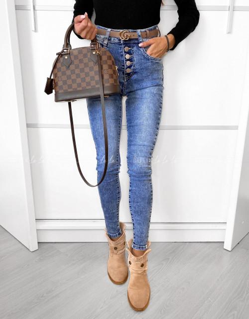 spodnie jeans blue z guzikami Fuenta