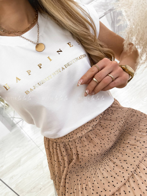 T-shirt Happines biały