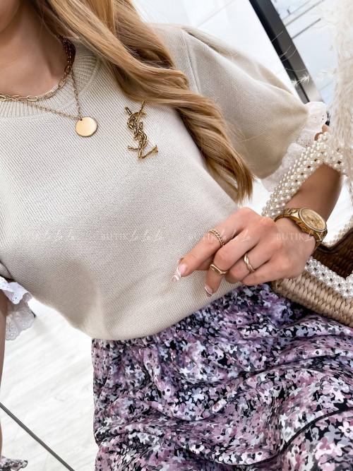 bluzka beżowa sweterkowa Bellusi
