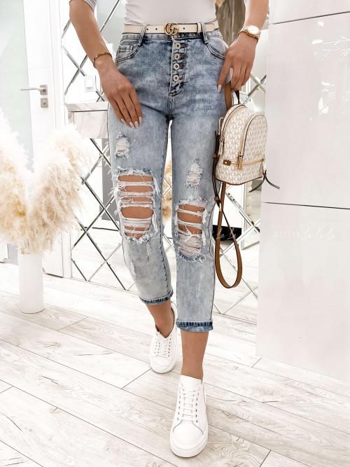 spodnie jeans bluez guzikami Rito