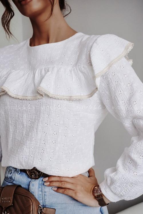 bluzka biała ażurowa Uno