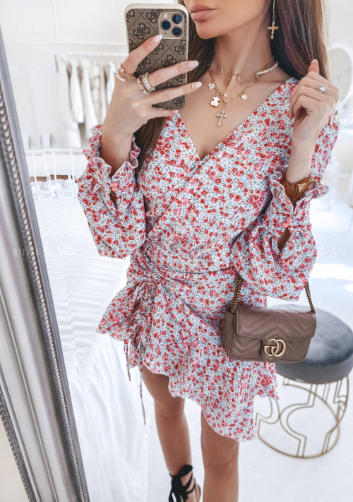 sukienka w kwiatowy print Sollana