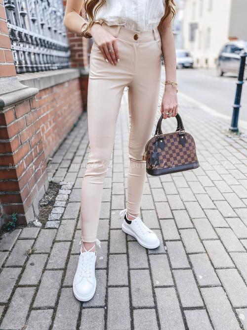 spodnie beżowe woskowane Lavena