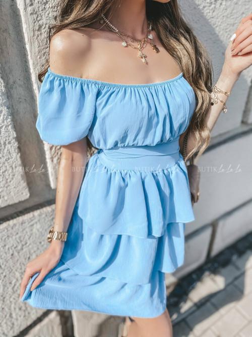 sukienka hiszpanka błękitna Calma
