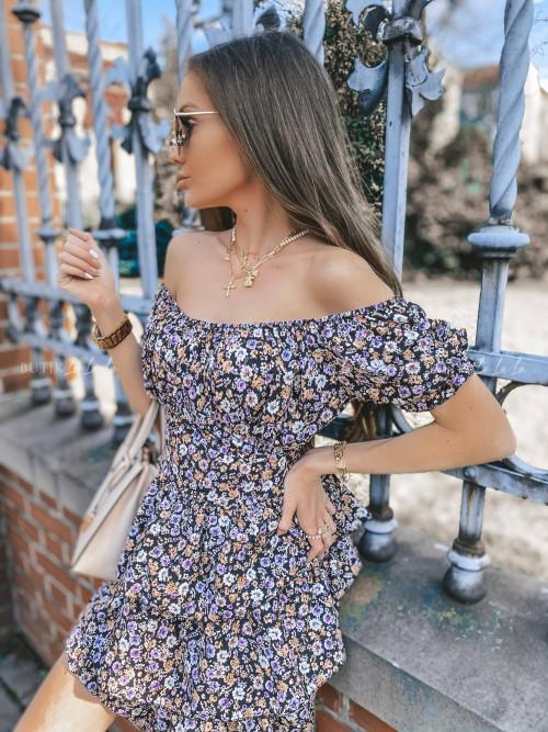 sukienka hiszpanka w kwiaty Caldera