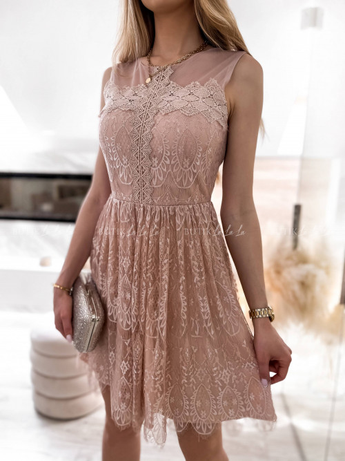 sukienka koronkowa pudrowa Foriana