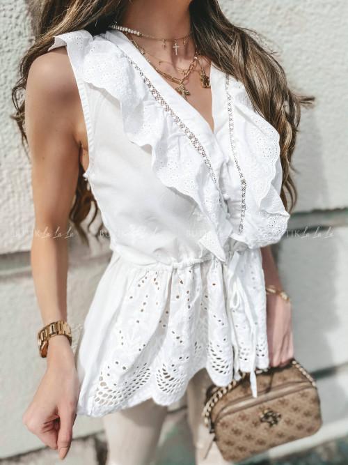 bluzka biała ażurowa Wonti