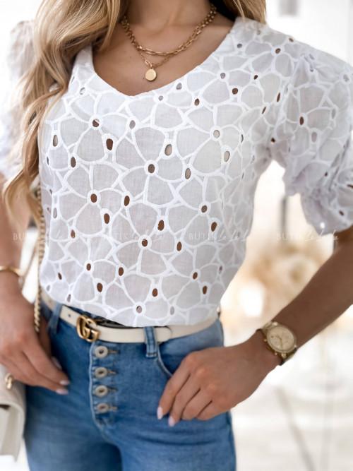 Bluzka biała ażurowa Rose