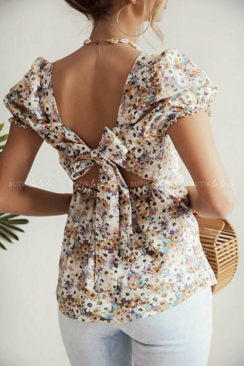 bluzka w kwiatowy print Sinita