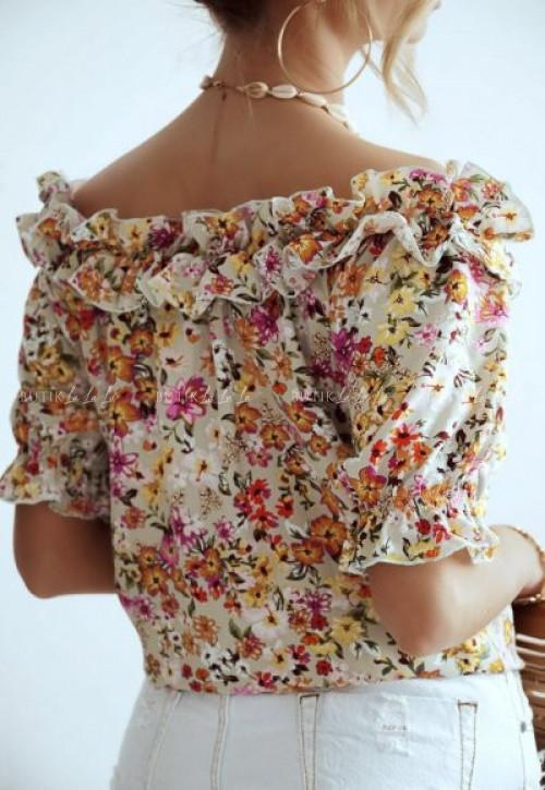 bluzka hiszpanka w kwiatki Olita