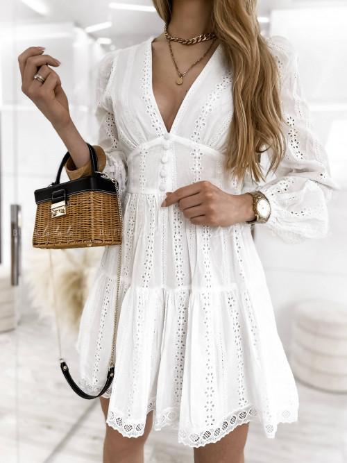 Sukienka biała ażurowa Somalia