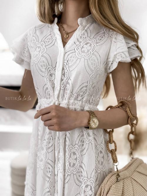 sukienka biała koronkowa Cansa