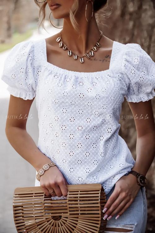bluzka biała ażurowa Awa