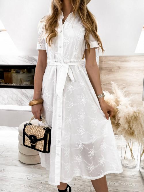 sukienka biała maxi Lirka