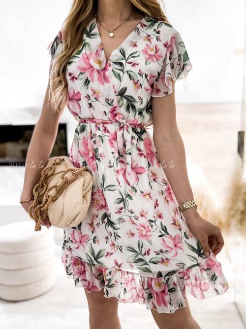 sukienka w kwiatowy print Sinita