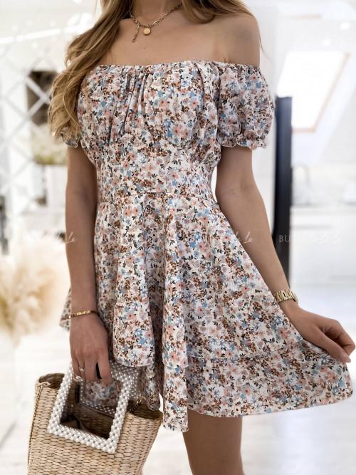 sukienka w kwiatowy print Alisa