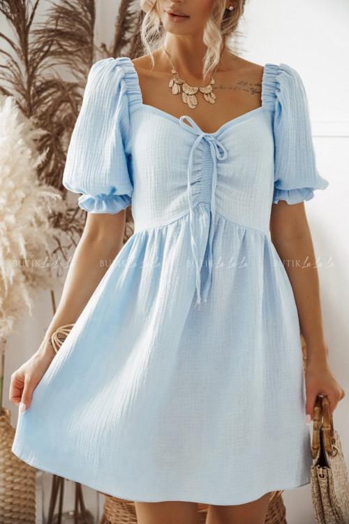 sukienka błękitna wanessa
