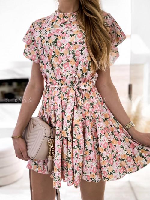 sukienka mini w kwiaty Mio