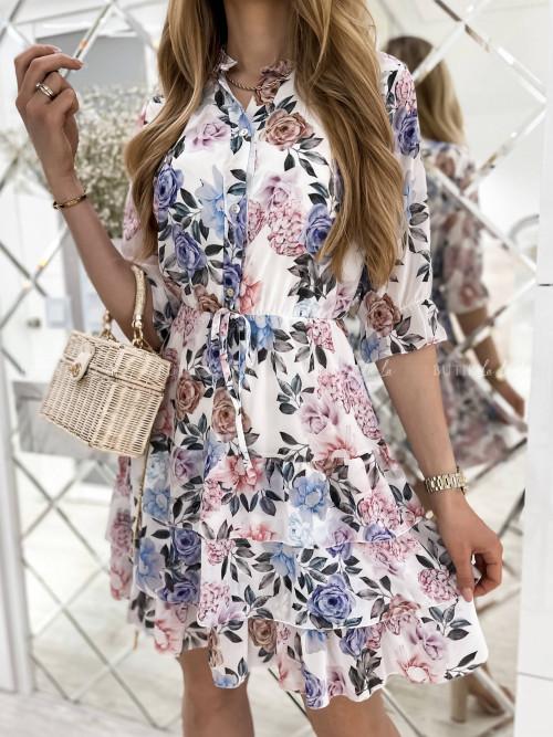 sukienka w kwiatowy print Tola