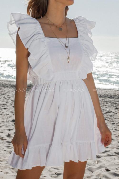 Sukienka biała z wiązaniem na plecach Harper
