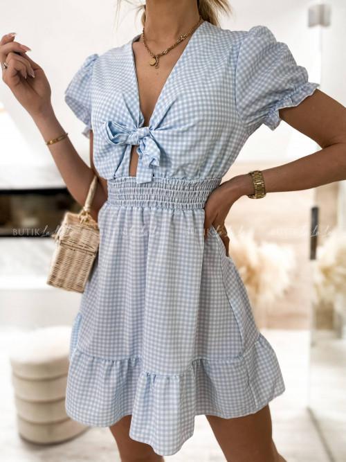 Sukienka w kratę z wiązaniem Lucinda