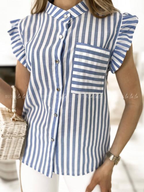 koszula w paski niebiesko-biała Nivena
