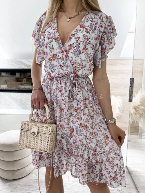 sukienka w kwiaty midi Waleria