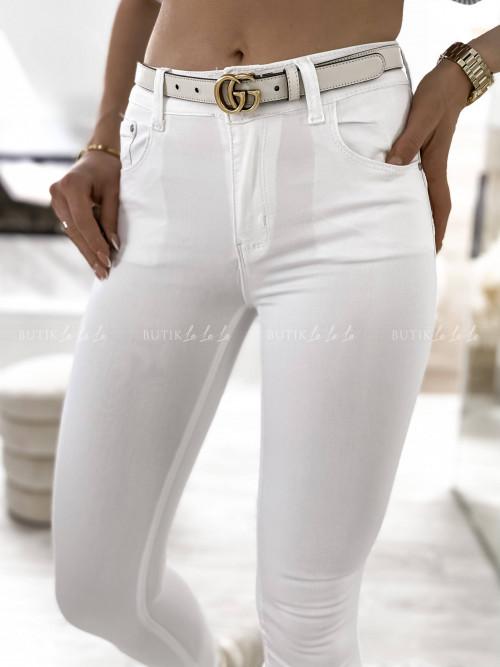 spodnie białe Massal